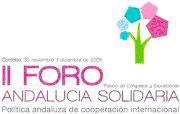 II Foro de Andalucía Solidaria, política andaluza de cooperación internacional.