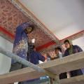 Instalación del nuevo artesonado en el Ayuntamiento de Chefchaouen
